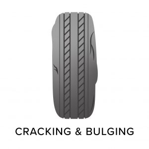 cracking and bulging in tyres, common tyre problems