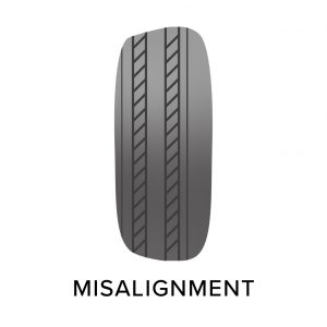 tyre misalignment wear, common tyre problems