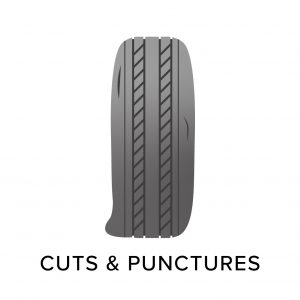 Tyre cuts and tyre punctures, common tyre problems