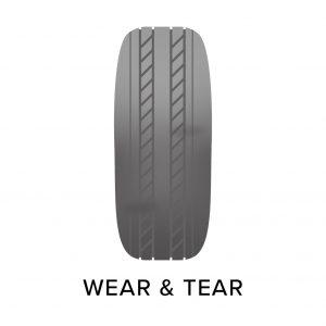Tyre wear and tear damage